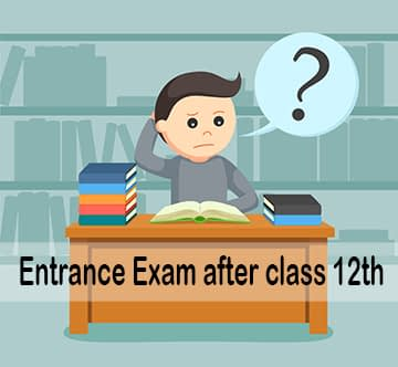 entrance exam after class 12