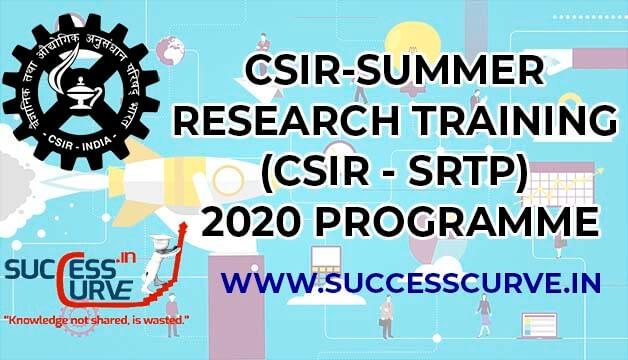 CSIR SRTP 2020
